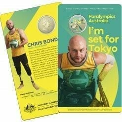 2020 $1 Australian Paralympic Team - Ambassador Uncirculated Coloured Coin - AlBr 7