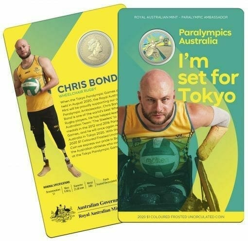 2020 $1 Australian Paralympic Team - Ambassador Uncirculated Coloured Coin - AlBr 4
