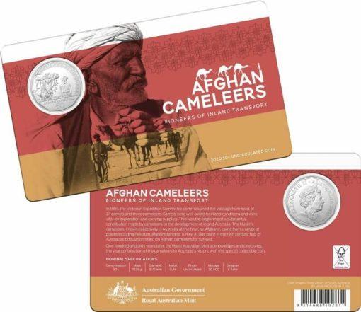 2020 50c Afghan Cameleers - Pioneers of Inland Transport Uncirculated Coin 4
