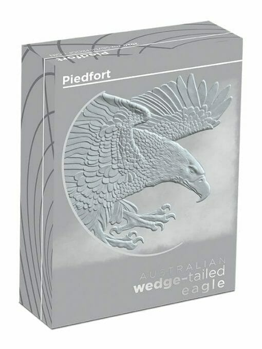 2020 Australian Wedge-Tailed Eagle 2oz .9999 Silver Proof Piedfort Coin 5
