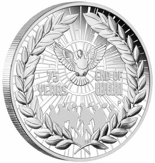 2020 End of WWII 75th Anniversary 1oz .9999 Silver Proof Coin 2