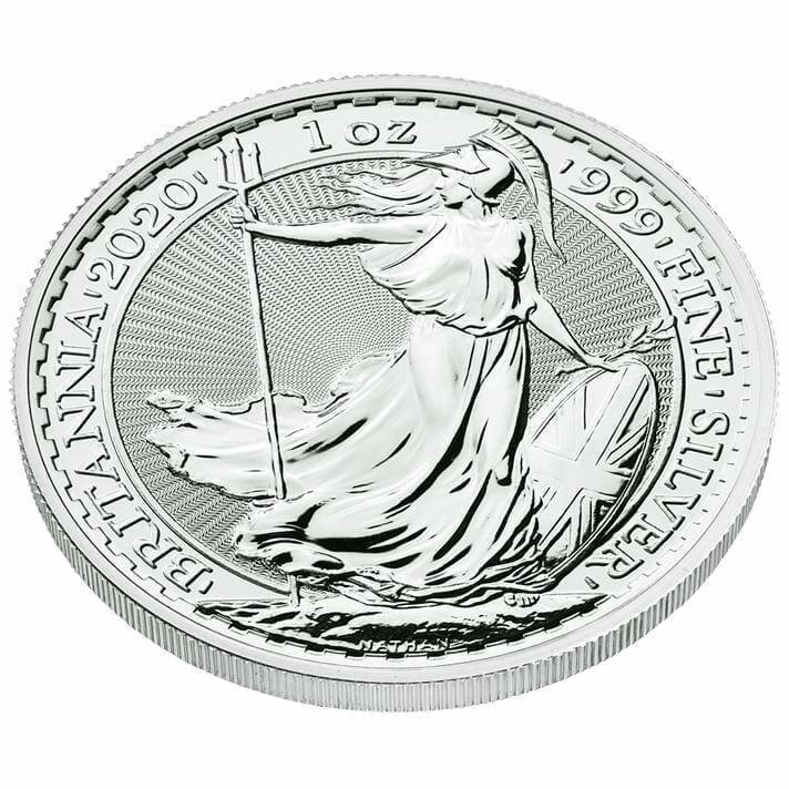 2020 Britannia 1oz .999 Silver Bullion Coin 2