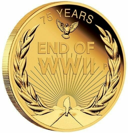2020 End of WWII 75th Anniversary 1/4oz .9999 Gold Proof Coin 2