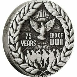2020 End of WWII 75th Anniversary 2oz .9999 Silver Antiqued Coin 6