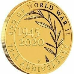 2020 End of WWII 75th Anniversary 0.5g .9999 Gold Proof Coin in Card 7