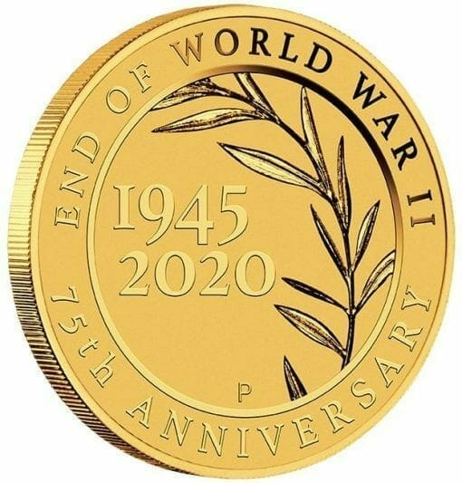 2020 End of WWII 75th Anniversary 0.5g .9999 Gold Proof Coin in Card 3