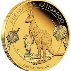 2020 Australian Kangaroo 1/4oz .9999 Gold Proof Coin 6