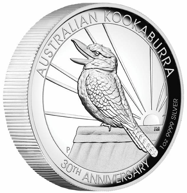 2020 Australian Kookaburra 1oz .9999 Silver Proof High Relief Coin 2