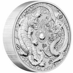 2020 Dragon & Tiger 10oz .9999 Silver Bullion Coin 4