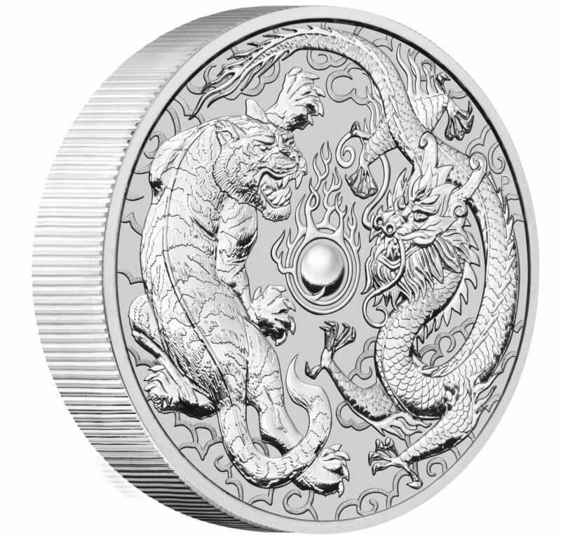 2020 Dragon & Tiger 10oz .9999 Silver Bullion Coin 2