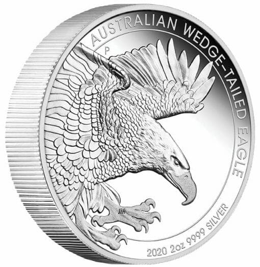 2020 Australian Wedge-Tailed Eagle 2oz .9999 Silver Proof Piedfort Coin 2