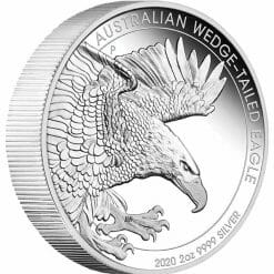 2020 Australian Wedge-Tailed Eagle 2oz .9999 Silver Proof Piedfort Coin 6