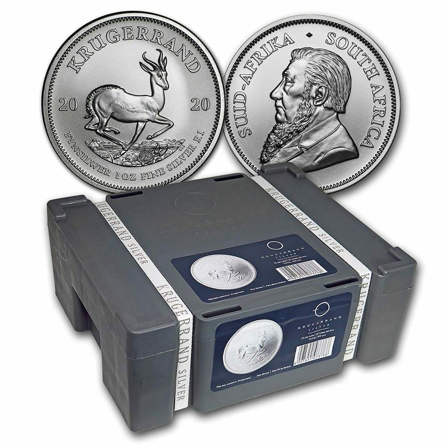 2020 Silver Krugerrand 1oz .999 Silver Bullion Coin Monster Box (500 Coins) 1