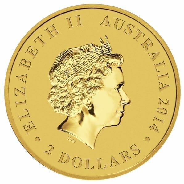 2014 Australian Kangaroo Mini Roo 0.5g .9999 Gold Coin 7