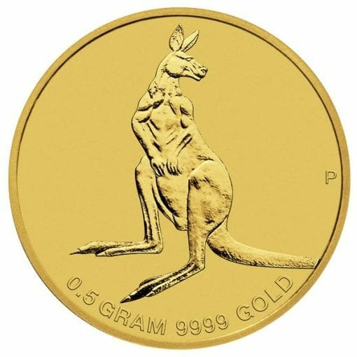 2014 Australian Kangaroo Mini Roo 0.5g .9999 Gold Coin 2