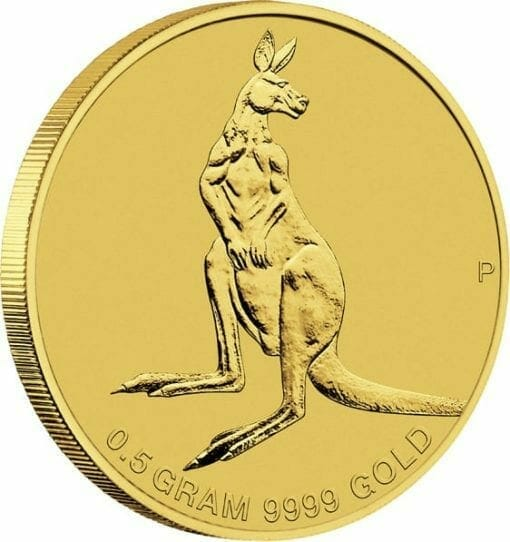 2014 Australian Kangaroo Mini Roo 0.5g .9999 Gold Coin 3