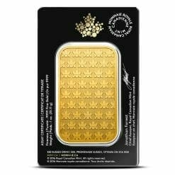 Royal Canadian Mint 1oz .9999 Gold Minted Bullion Bar 3