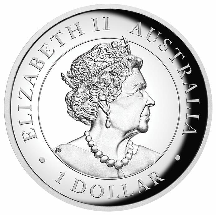 2020 Australian Kangaroo 1oz .9999 Coloured High Relief Silver Coin 3