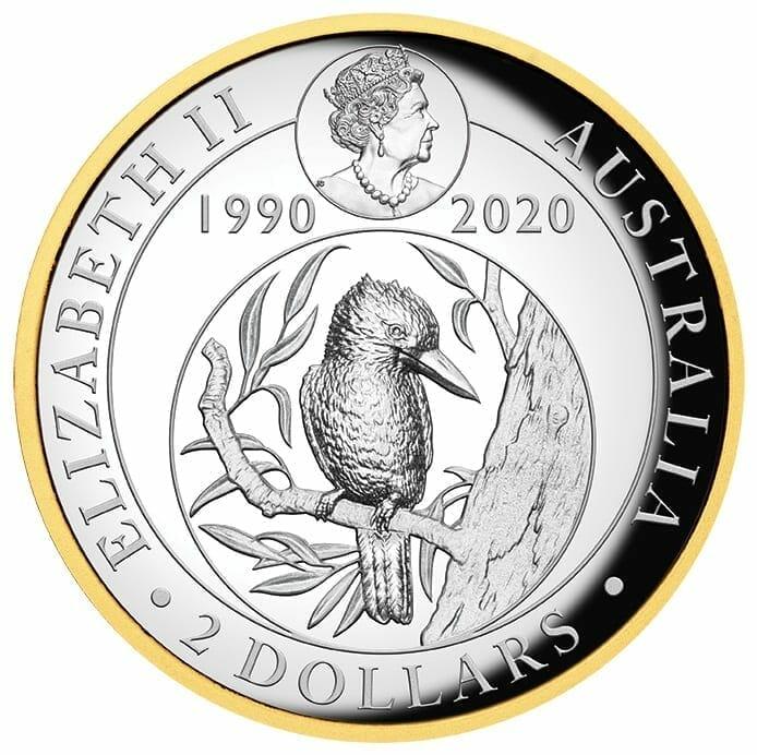 2020 Australian Kookaburra 2oz .9999 Gilded Silver Proof High Relief Coin 3