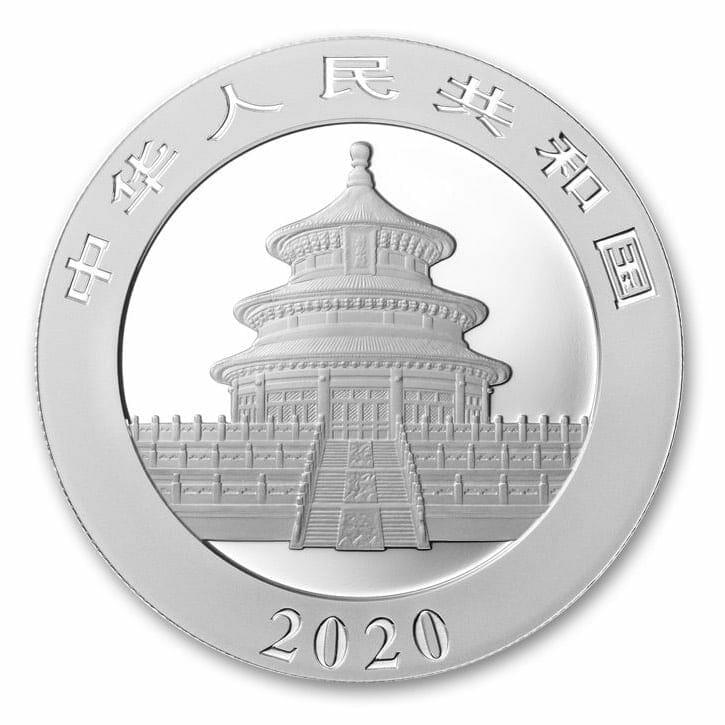 2020 Chinese Silver Panda 30g .999 Silver Bullion Coin 3