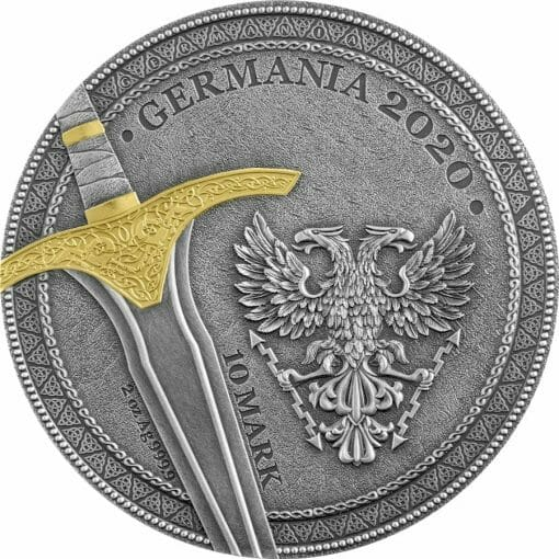 2020 The Warriors - Ariowit 2oz .9999 High Relief Silver Coin 2