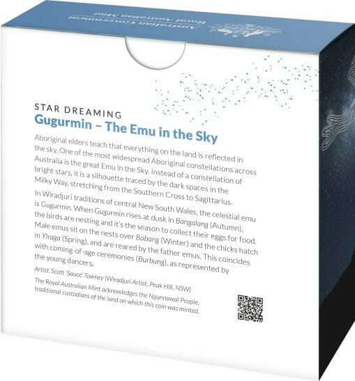 2020 $1 Star Dreaming - Emu in the Sky 1/2oz .999 Silver Coin 5