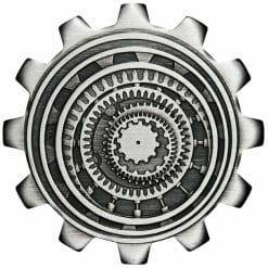 2020 Industry in Motion 1oz .9999 Silver Gear Shaped Antiqued Two Coin Set 11