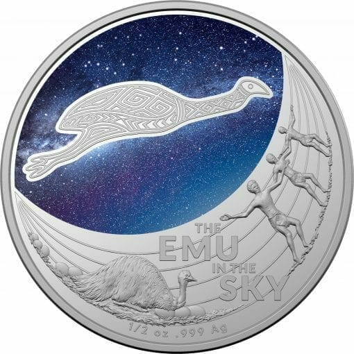 2020 $1 Star Dreaming - Emu in the Sky 1/2oz .999 Silver Coin 1