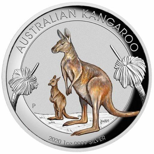 2020 Australian Kangaroo 1oz .9999 Coloured High Relief Silver Coin 1