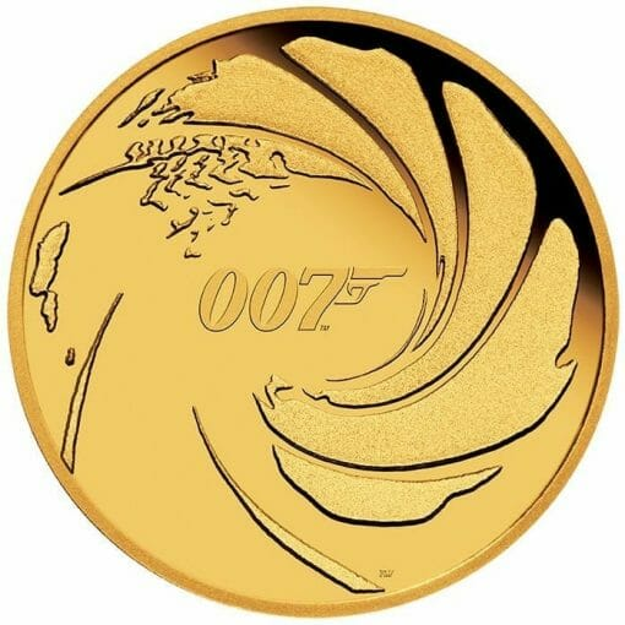 2020 007 James Bond 1/4oz .9999 Gold Proof Coin 1