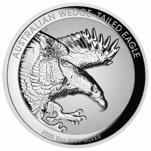 2020 Australian Wedge-Tailed Eagle 5oz .9999 Silver Proof Incused High Relief Coin 1