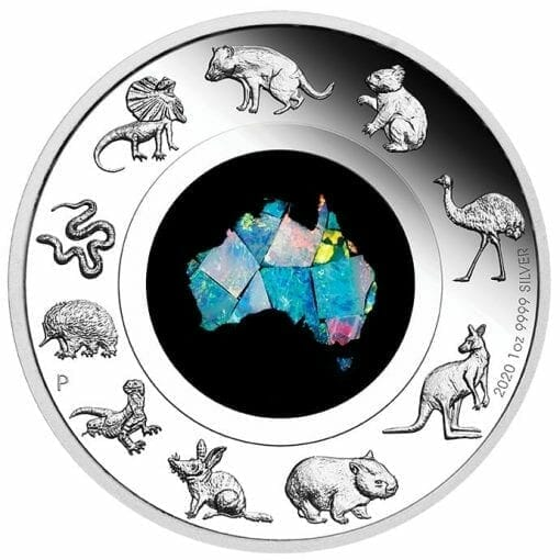 2020 Great Southern Land 1oz .9999 Silver Proof Opal Coin 1