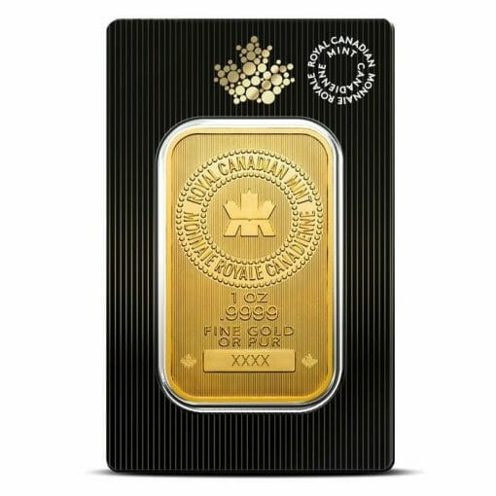Royal Canadian Mint 1oz .9999 Gold Minted Bullion Bar 1