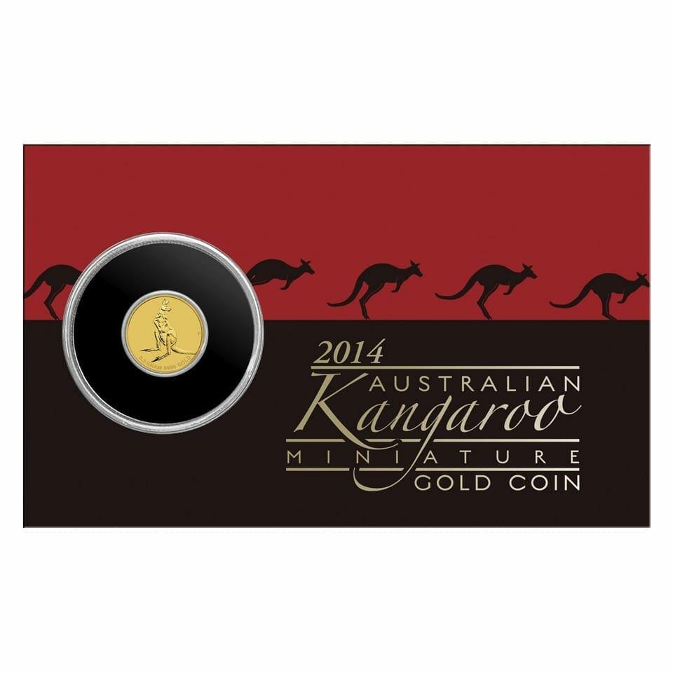2014 Australian Kangaroo Mini Roo 0.5g .9999 Gold Coin 1