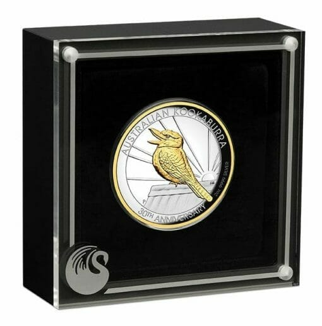 2020 Australian Kookaburra 2oz .9999 Gilded Silver Proof High Relief Coin 4