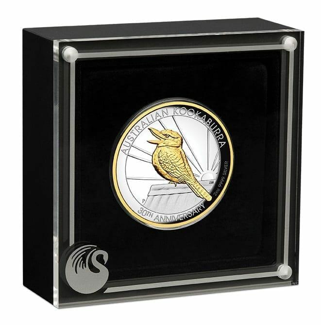 2020 Australian Kookaburra 2oz .9999 Gilded Silver Proof High Relief Coin 8