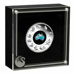 2020 Great Southern Land 1oz .9999 Silver Proof Opal Coin 8