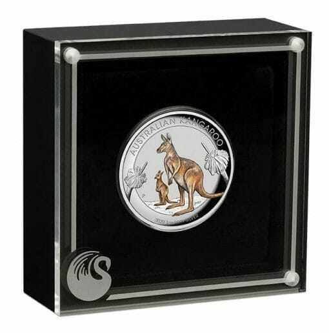 2020 Australian Kangaroo 1oz .9999 Coloured High Relief Silver Coin 4