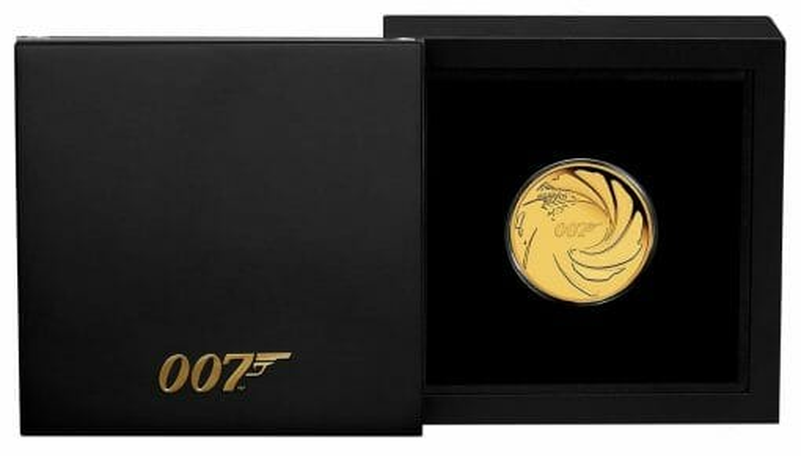 2020 007 James Bond 1/4oz .9999 Gold Proof Coin 4
