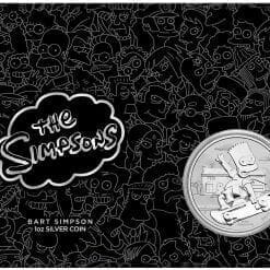 2020 The Simpsons - Bart Simpson 1oz .9999 Silver Coin in Black Card 5