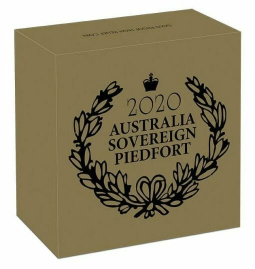 2020 Australia Sovereign Gold Proof High Relief Piedfort Coin 5