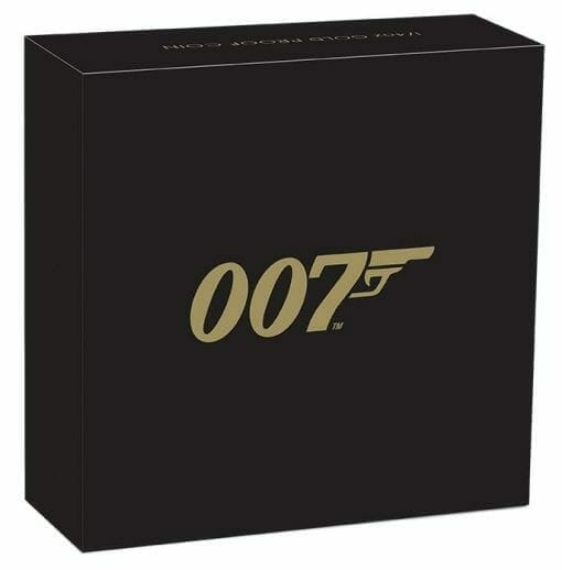 2020 007 James Bond 1/4oz .9999 Gold Proof Coin 5