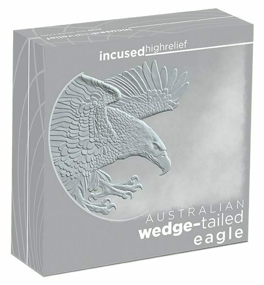 2020 Australian Wedge-Tailed Eagle 5oz .9999 Silver Proof Incused High Relief Coin 5