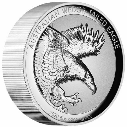 2020 Australian Wedge-Tailed Eagle 5oz .9999 Silver Proof Incused High Relief Coin 2
