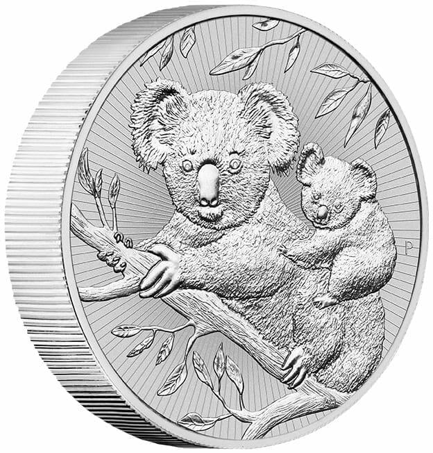 2018 Mother & Baby Koala 2oz .9999 Silver Bullion Piedfort Coin 2