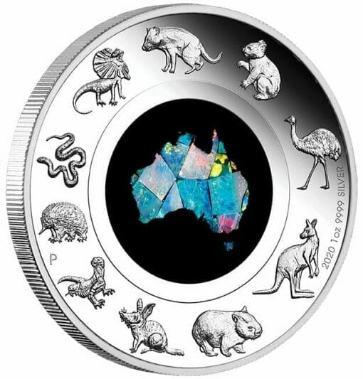 2020 Great Southern Land 1oz .9999 Silver Proof Opal Coin 2