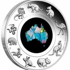 2020 Great Southern Land 1oz .9999 Silver Proof Opal Coin 6