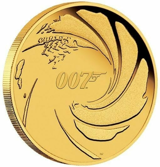 2020 007 James Bond 1/4oz .9999 Gold Proof Coin 2