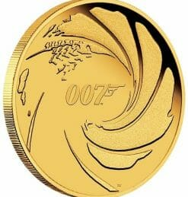 2020 007 James Bond 1/4oz .9999 Gold Proof Coin 6