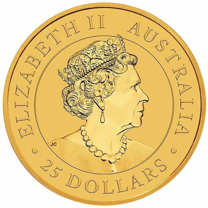 2020 Australian Kangaroo 1/4oz .9999 Gold Bullion Coin 3